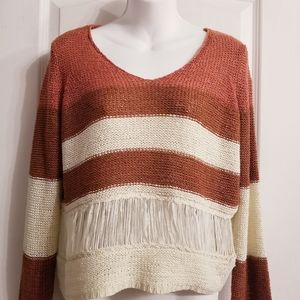 Only Fringe Detail Knit Sweater